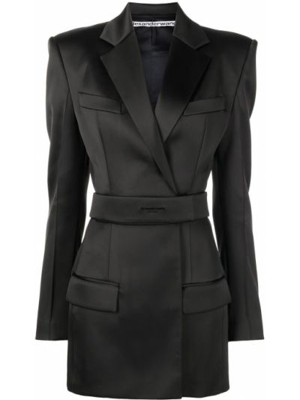 Sukienka długa z długimi rękawami - czarna Alexander Wang