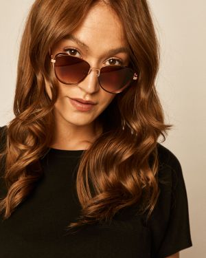 Brązowe okulary Medicine