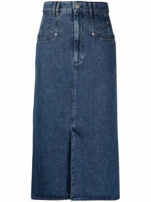Синяя хлопковая юбка Isabel Marant