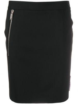 Черная плиссированная юбка мини с карманами Dsquared2