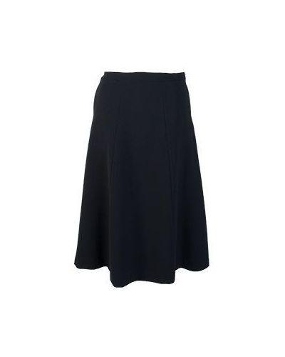 Шерстяная юбка миди - черная Piccione•piccione