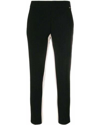 Укороченные брюки в полоску с полоской по бокам Elisabetta Franchi