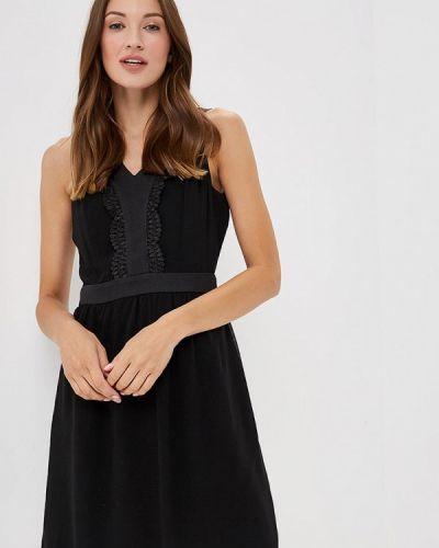 Черное платье осеннее Naf Naf