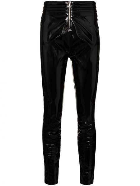 Черные кожаные леггинсы Rta