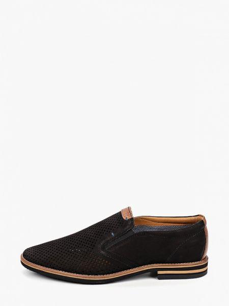 Туфли черные из нубука Salamander