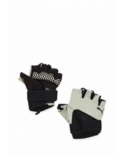 Серые перчатки для фитнеса Puma