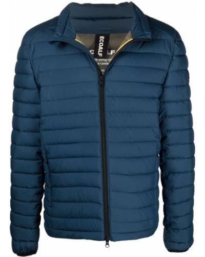 Niebieska długa kurtka materiałowa z długimi rękawami Ecoalf