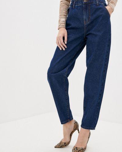 Синие расклешенные джинсы свободного кроя Zarina
