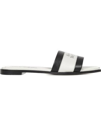 Sandały skorzane eleganckie asymetryczne Alexander Mcqueen