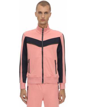Prążkowana różowa kurtka Dim Mak Collection
