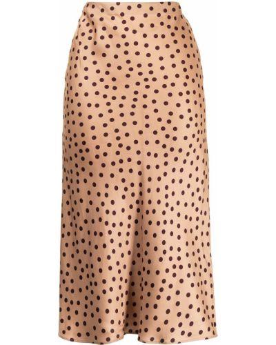 С завышенной талией бежевая прямая юбка L'agence