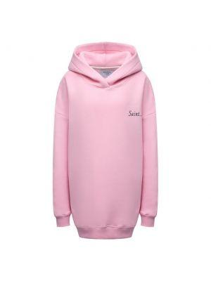 Розовое худи из полиэстера Seven Lab