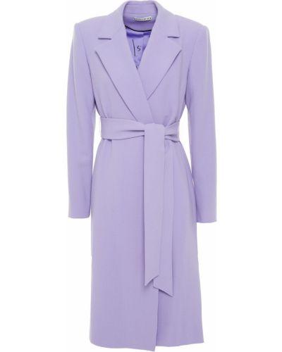 Фиолетовое шерстяное пальто с карманами Alice + Olivia