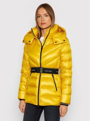 Kurtka puchowa - żółta Calvin Klein