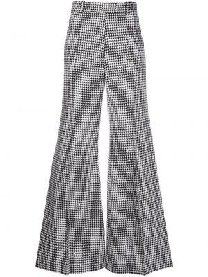 Czarne spodnie bawełniane z paskiem Racil