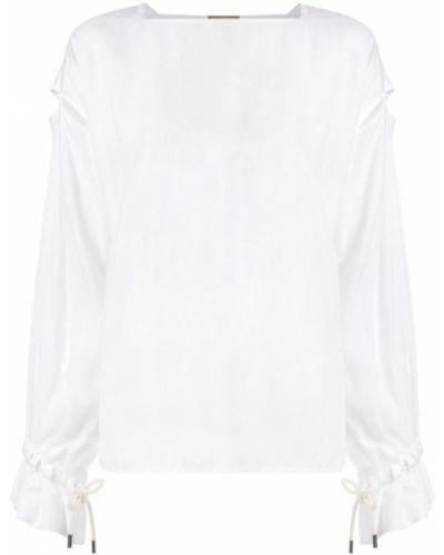 Блузка со шнуровкой белая Nehera