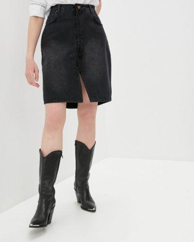 Черная джинсовая юбка One Teaspoon