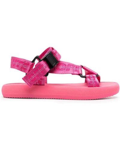 Różowe sandały z printem Off-white