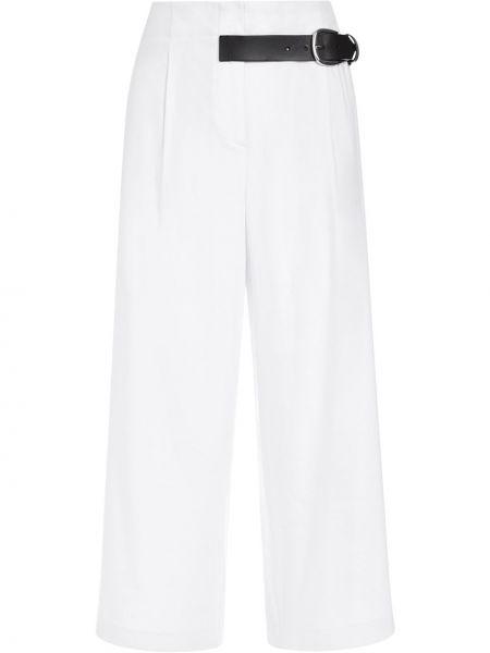 Белые укороченные брюки с карманами из вискозы Alice+olivia