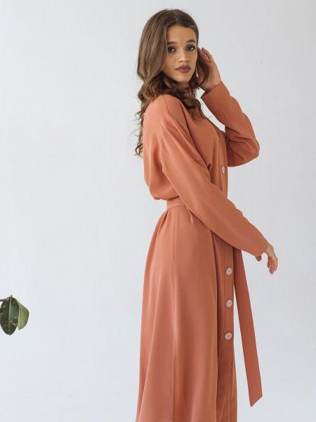 Оранжевое платье Vovk