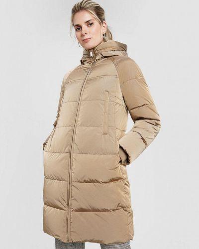 Бежевая теплая зимняя куртка O'stin