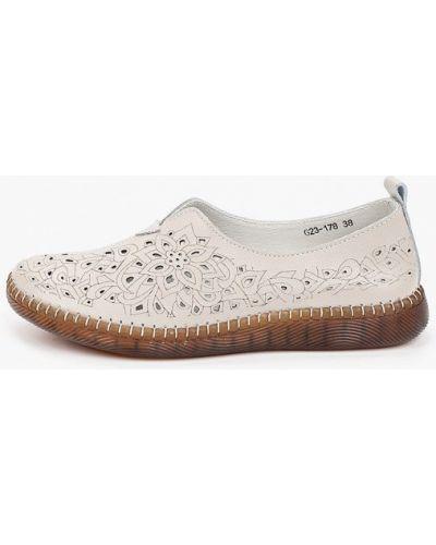 Серые кожаные туфли закрытые O-live Naturalle