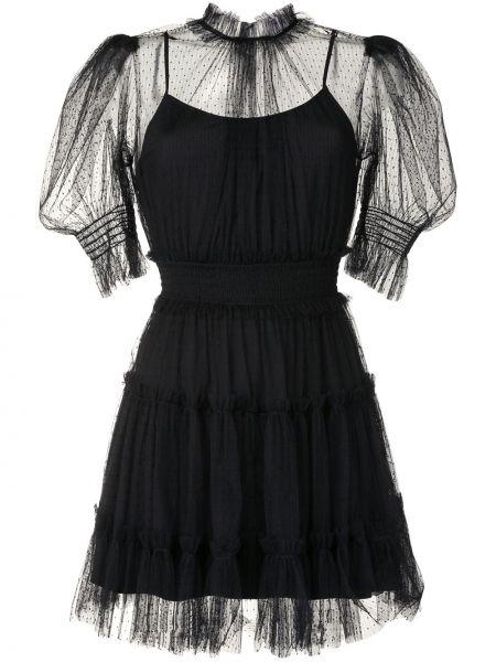 Прямое платье мини со вставками прозрачное с вырезом Alice Mccall