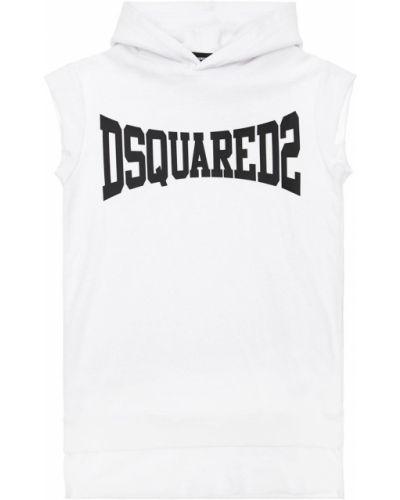 Хлопковое платье - белое Dsquared2