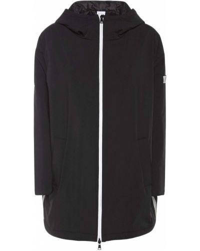 Пуховая черная куртка с капюшоном Max Mara