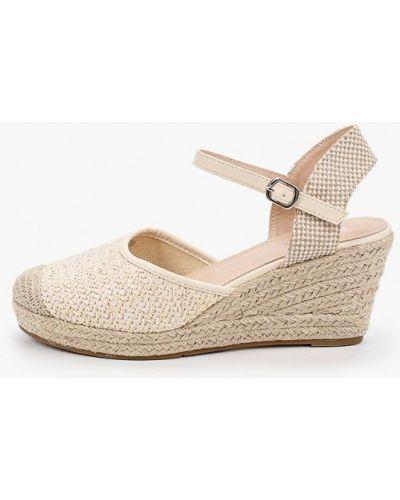 Бежевые текстильные туфли Exquily