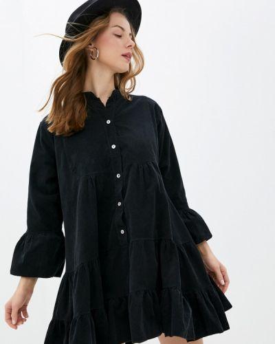 Прямое черное платье А-силуэта Tantra