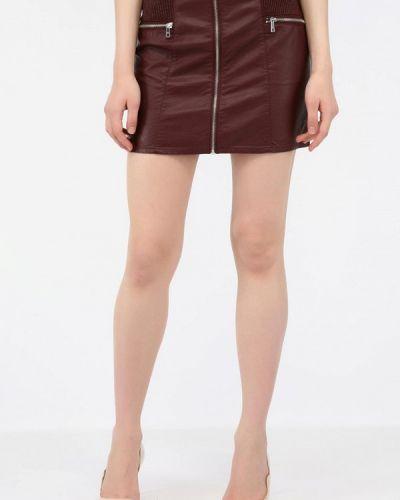 Кожаная юбка итальянский красный Alcott