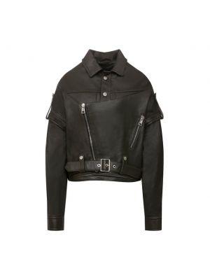 Кожаная куртка из полиэстера хаки Manokhi