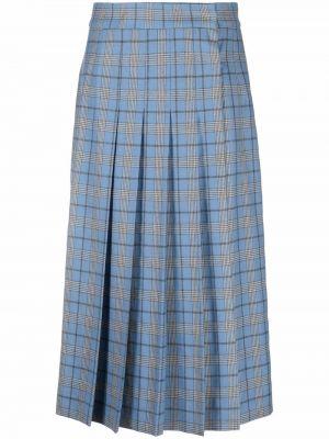 Синяя плиссированная юбка Alberta Ferretti