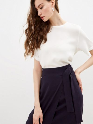 Блузка с короткими рукавами - белая Windsor
