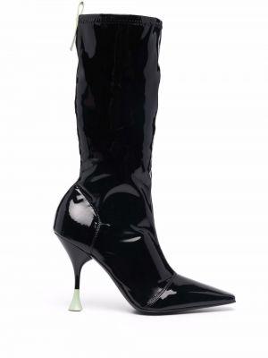 Черные сапоги на каблуке Grey Mer