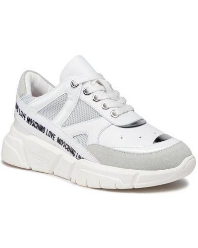 Sneakersy - białe Love Moschino