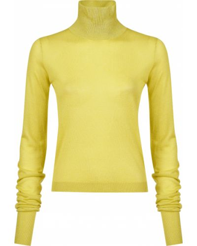 Желтая водолазка из вискозы Patrizia Pepe