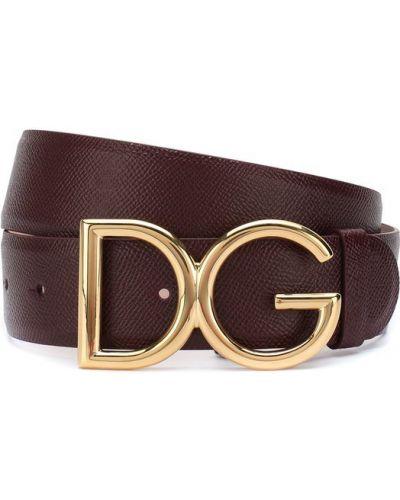 Ремень с пряжкой кожаный Dolce & Gabbana