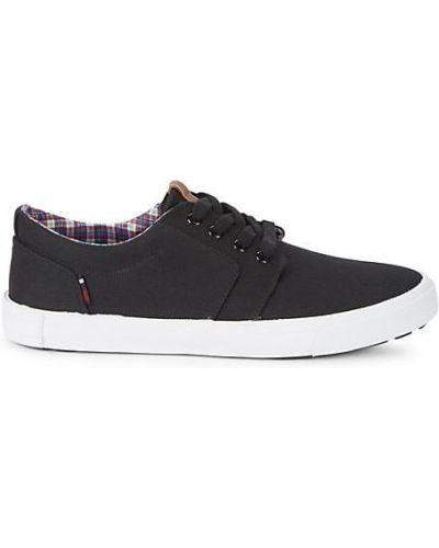 Czarne sneakersy sznurowane koronkowe Ben Sherman