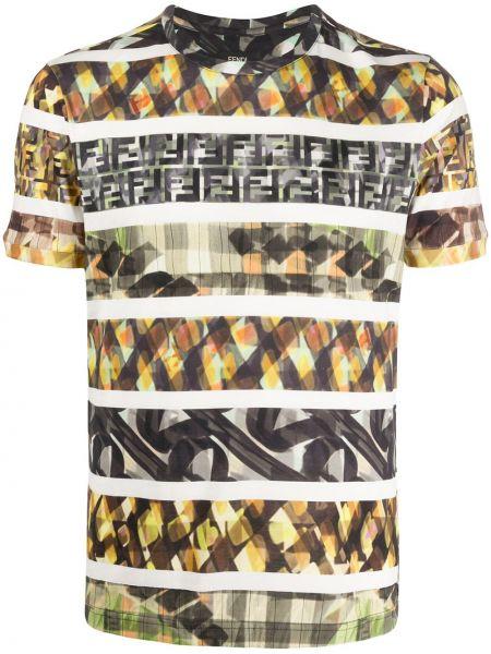 Koszula krótkie z krótkim rękawem z nadrukiem Fendi
