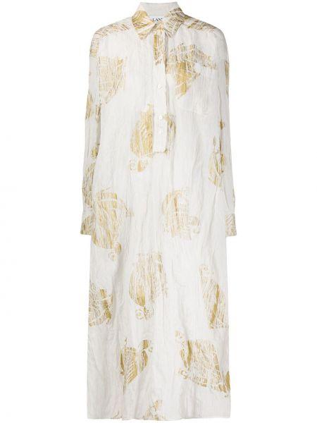 Платье на пуговицах классическое Lanvin