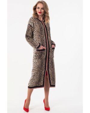 Вязаное пальто - коричневое Wisell