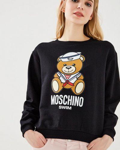 Черная толстовка Moschino