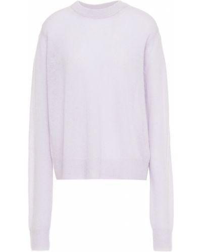 Sweter wełniany - liliowy Helmut Lang