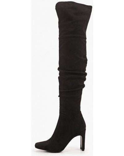 Велюровые черные ботфорты Diora.rim