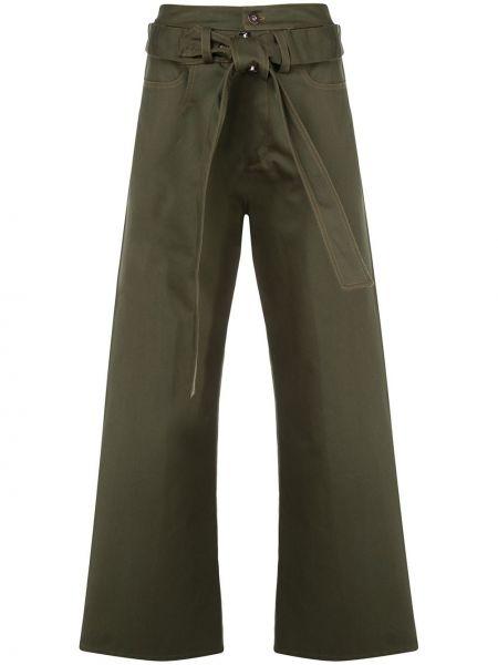 Свободные брюки с поясом на пуговицах свободного кроя Delada