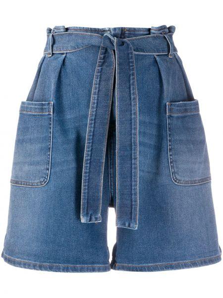 Джинсовые шорты с завышенной талией свободные Redvalentino