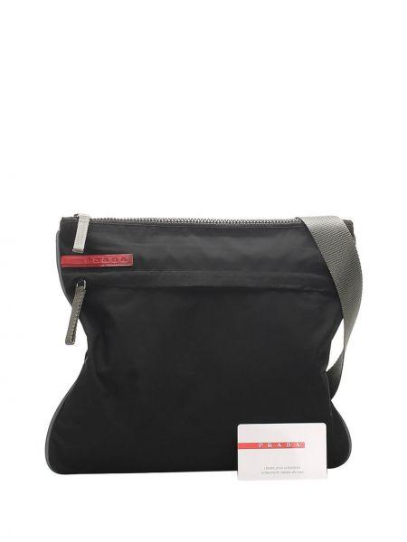 Черная нейлоновая сумка через плечо Prada Pre-owned