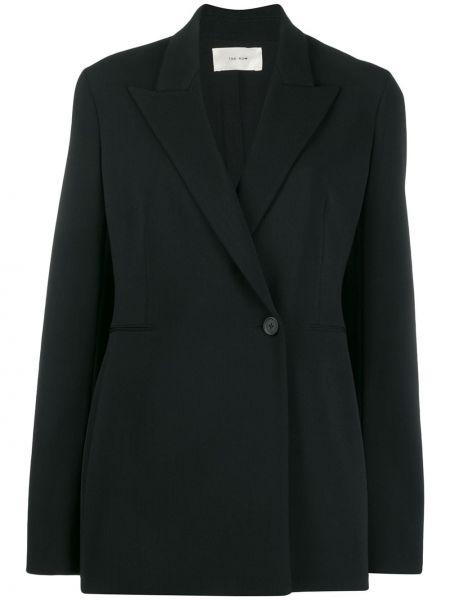 Шерстяной черный приталенный пиджак The Row